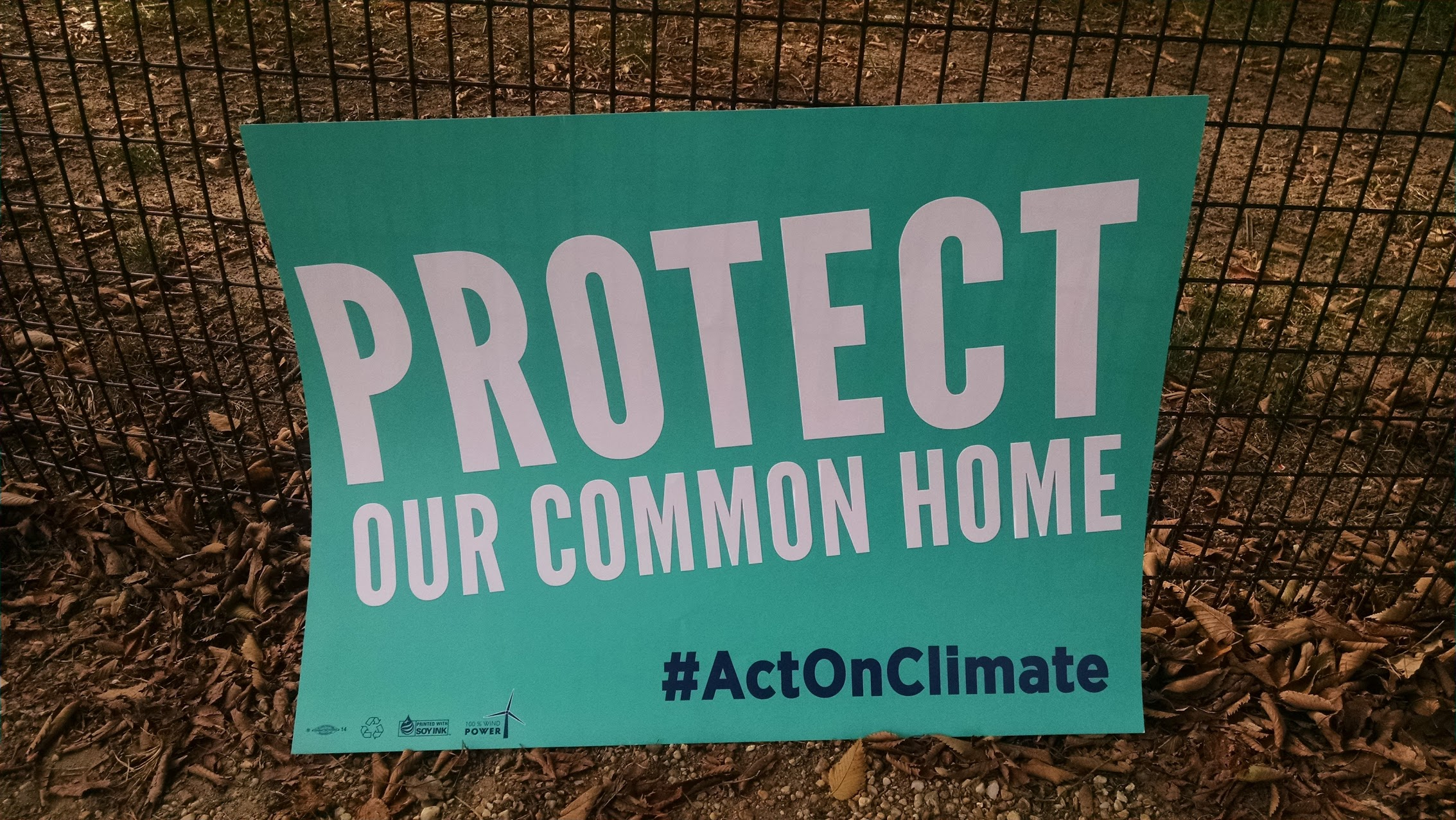 Protect Our Common Home sign